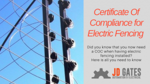 JD Gates Approved Electrical COC
